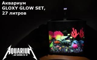Настоящий светящийся аквариум GLOXY GLOW SET: с растениями и декорациями!